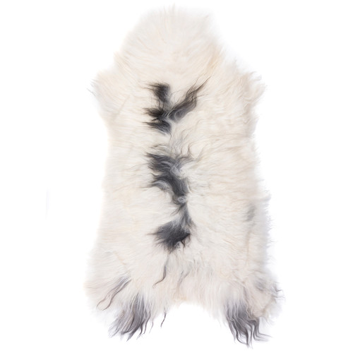 All Natural Hides and Sheepskins Icelandic Dalmation Sheep Rug