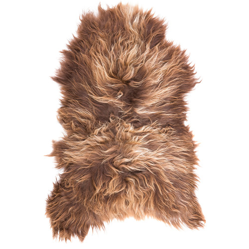 All Natural Hides and Sheepskins Icelandic Affogato Sheep Rug