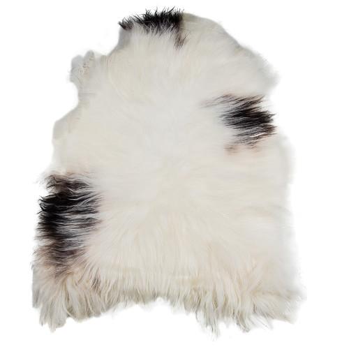 All Natural Hides and Sheepskins Icelandic Sheep Dalmation Rug