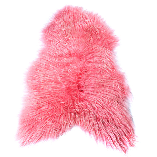 All Natural Hides and Sheepskins Candy Pink Icelandic Sheep Rug
