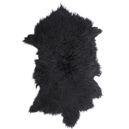 All Natural Hides and Sheepskins Noir Mongolian Sheep Rug