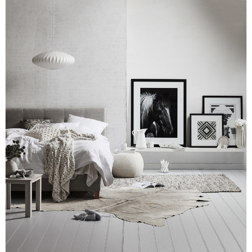 All natural hides and sheepskins silver grey natural for Cowhide rugs melbourne