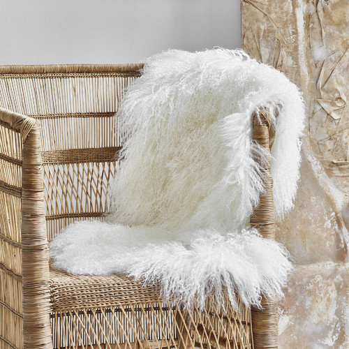 All Natural Hides and Sheepskins Frost Mongolian Sheepskin Rug