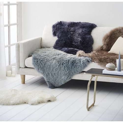 All Natural Hides and Sheepskins Shadow Sheepskin Rug