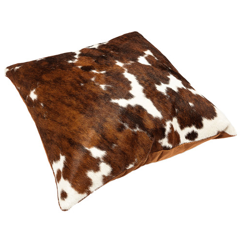 All Natural Hides and Sheepskins Tri-Colour Cow Hide Cushion