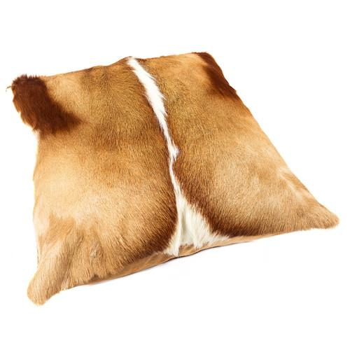 All Natural Hides and Sheepskins Natural Springbok Cushion