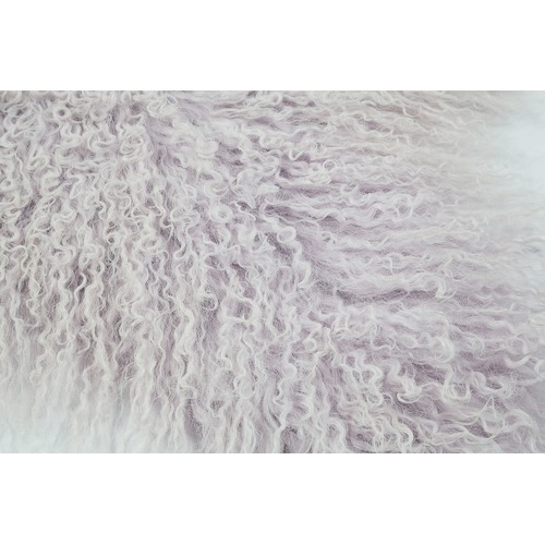 All Natural Hides and Sheepskins Lavender Mongolian Sheepskin Rug
