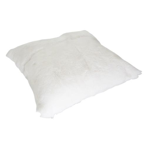 All Natural Hides and Sheepskins White Rabbit Fur Cushion