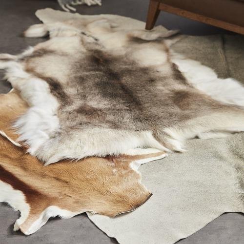 All Natural Hides and Sheepskins Silver Grey Natural Cowhide Rug