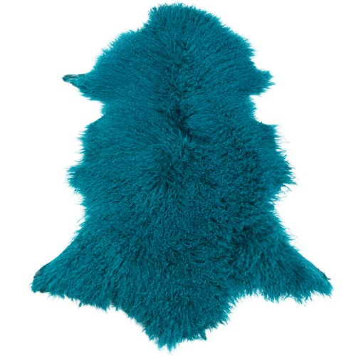 Teal Mongolian Sheepskin Rug