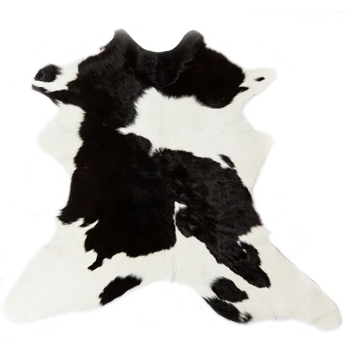 All Natural Hides and Sheepskins Friesian Natural Calf Hide Rug