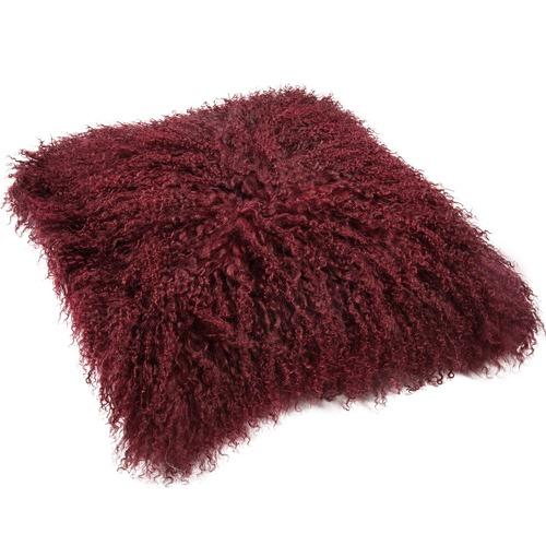 All Natural Hides and Sheepskins Kalypso Mongolian Sheepskin Cushion