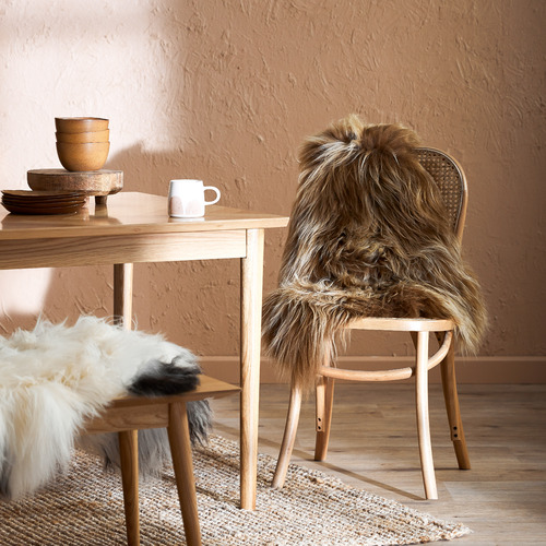 All Natural Hides and Sheepskins Icelandic Capuccino Sheep Rug