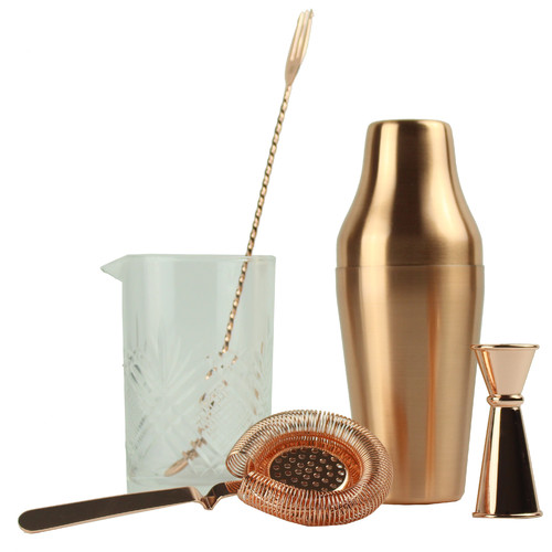 BG Barware Stirred & Shaken Complete Copper Kit