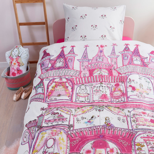 Fairy Palace Pink Cotton Single Quilt Cover Set | Temple & Webster : fairy quilt cover - Adamdwight.com