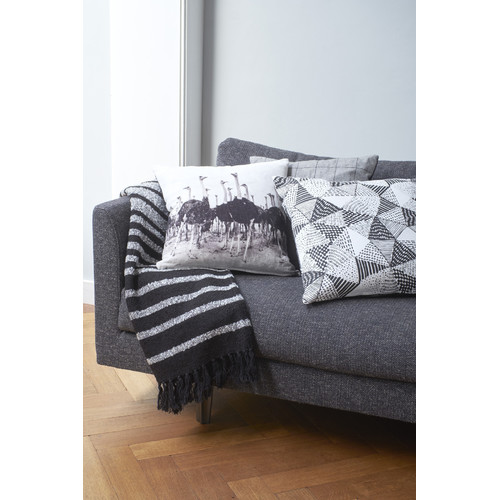 Ebro Black Square Cushion