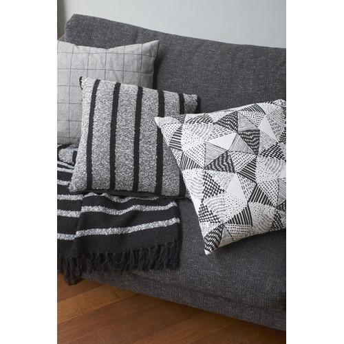 Honshu Black Square Cushion