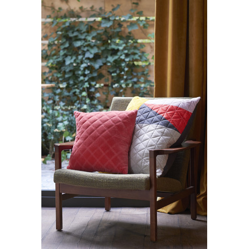 Bedding House Vercors Velvet Coral Square Cushion