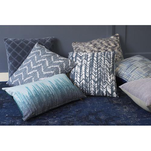 Falco Dark Blue Square Cushion