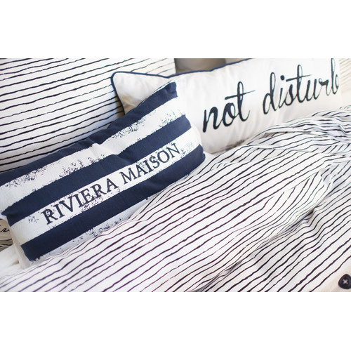 Bedding House Brave Stripe Dark Blue Rectangular Cushion