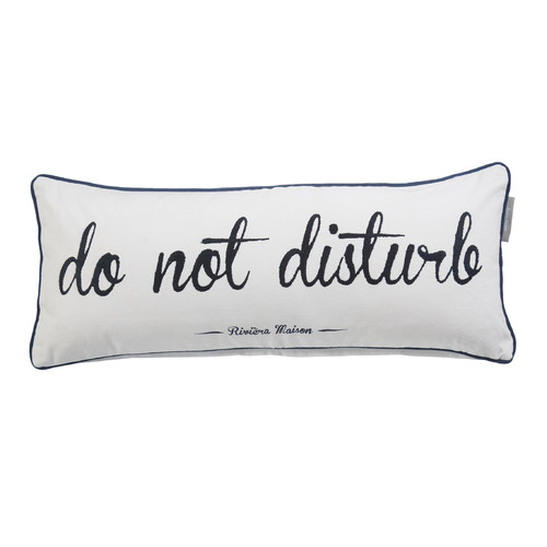 Bedding House Don't Disturb Dark Blue Rectangular Cushion