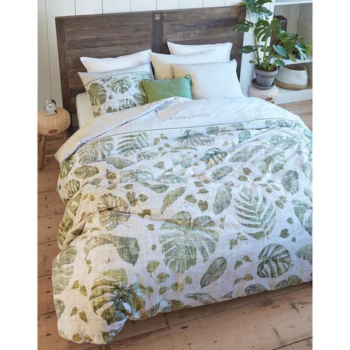 Bedding House Green Botanique Cotton Sateen Quilt Cover Set