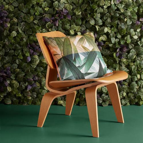 Green Tropical Flora Cushion