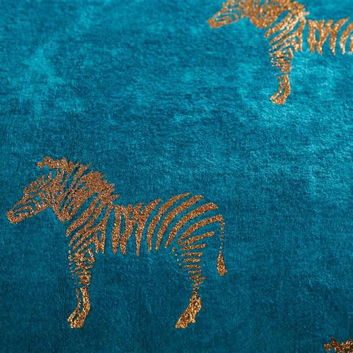 Bedding House Blue Zebra Velvet Cushion