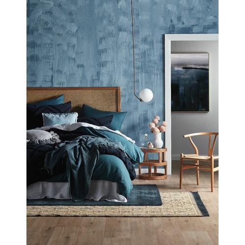 Bedding House Blue Roy Cotton Waffle Throw
