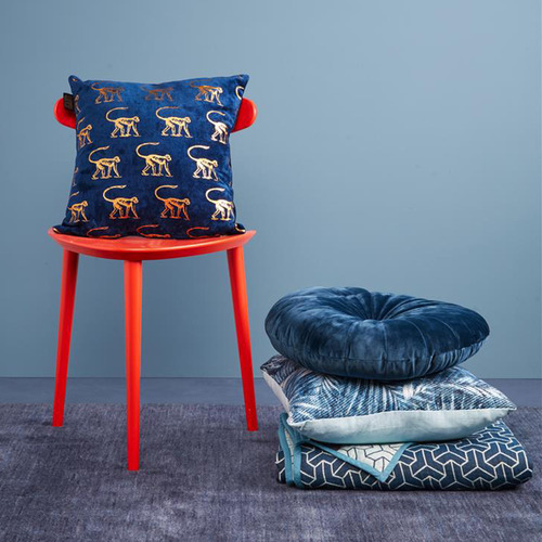 Bedding House Blue Monkey Cushion
