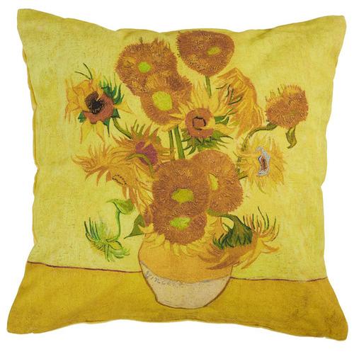 Bedding House Yellow Van Gogh Sunflower Cushion