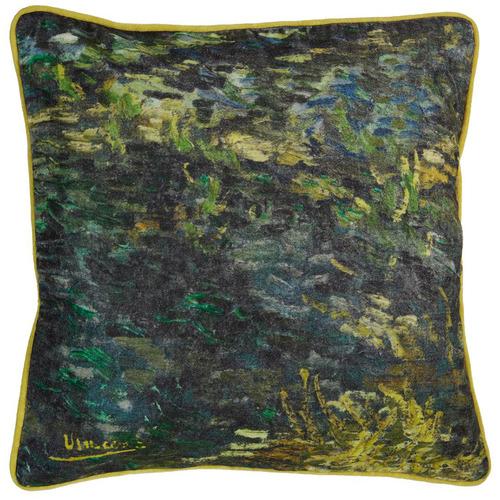 Bedding House Green Van Gogh Paintbrush Cushion
