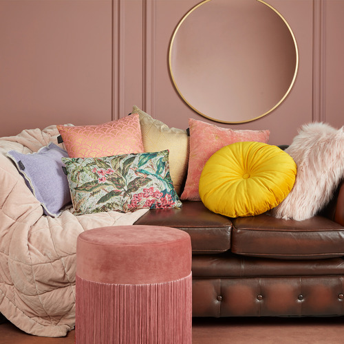 Bedding House Mandarin Round Velvet Cushion