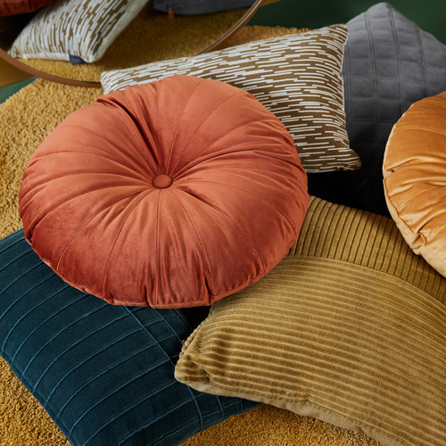 Bedding House Mandarin Velvet Round Cushion