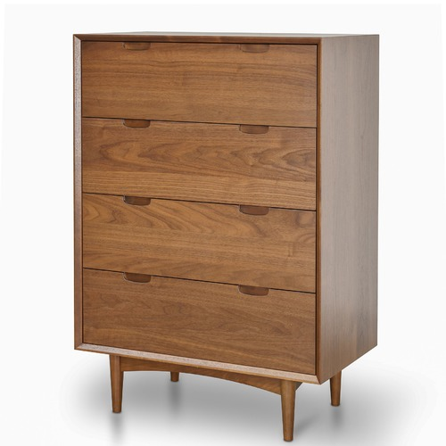 Harper & Hindley Walnut Vien 4 Drawer Chest