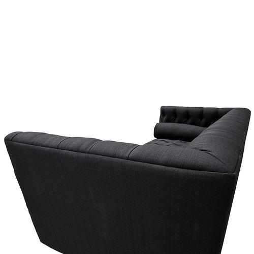 Harper & Hindley Black Laguna 2 Seater Upholstered Sofa