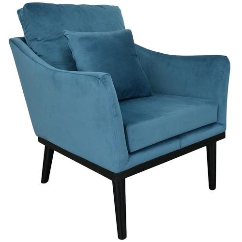 Harper & Hindley Blue Cota Velvet Armchair