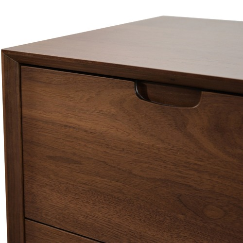 Harper & Hindley Walnut Vien 3 Drawer Chest
