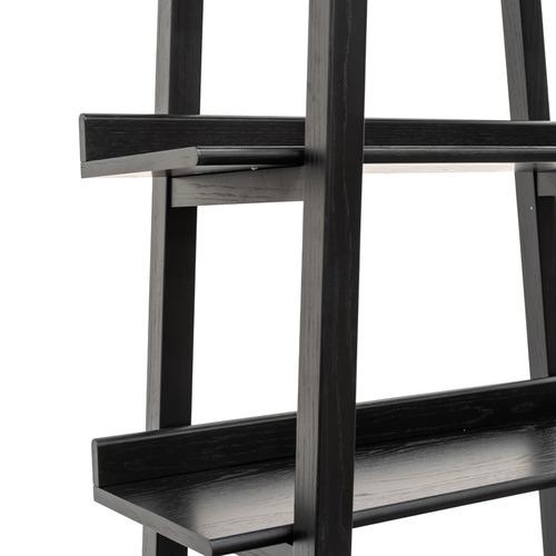 Harper & Hindley Black Lincoln 5 Tier Oak Bookshelf