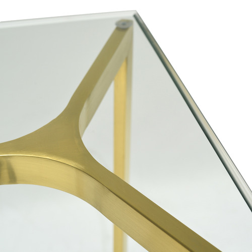 Harper & Hindley Gold Nilly Glass Console Table