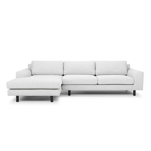 Harper & Hindley Light Grey Ayyan 3 Seater Sofa with Chaise