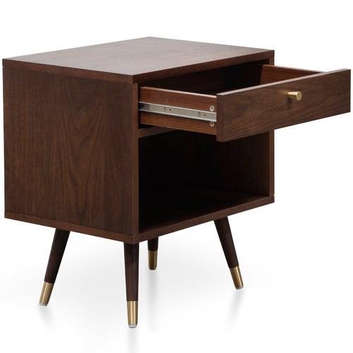 Harper & Hindley Dark Timber Valiente Bedside Table