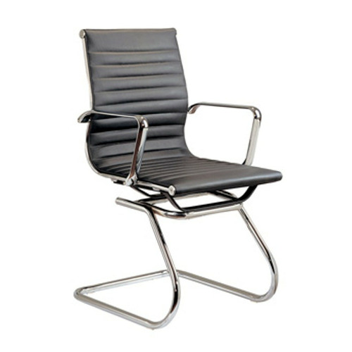 Harper & Hindley Black Eames Inspired Faux Leather Visitor Chair