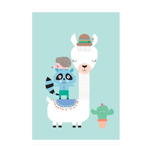 Design Mondo Lucky Llama Modern Printed Wall Art