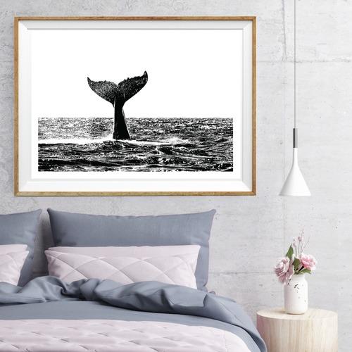 Design Mondo Humpback Whale Printed Wall Art