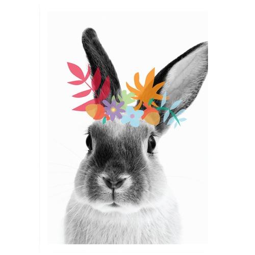 Design Mondo Woodsy Bunny Modern Printed Wall Art
