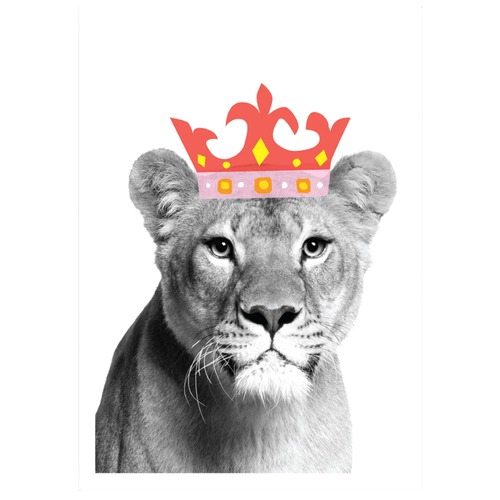Lion Queen Printed Wall Art Temple Amp Webster