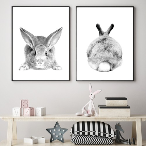 Design Mondo Set of 2 Mr Cottontail Unframed Paper Prints