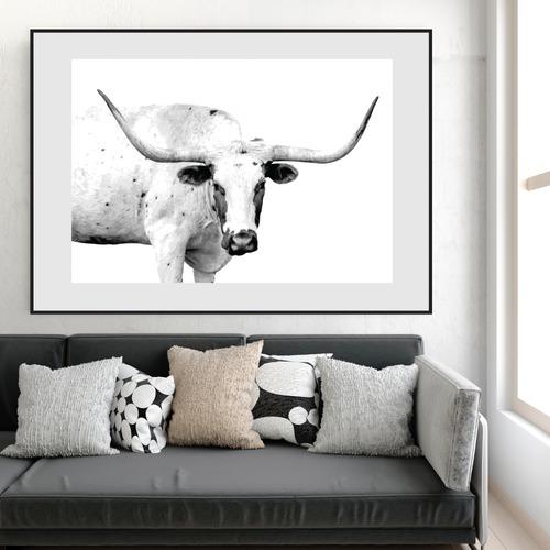 Design Mondo Texas Longhorn Unframed Paper Print