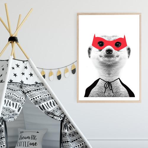 Design Mondo Mighty Meerkat Unframed Paper Print